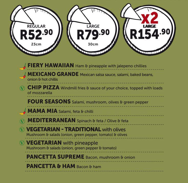 Traditional - Pizza Menu