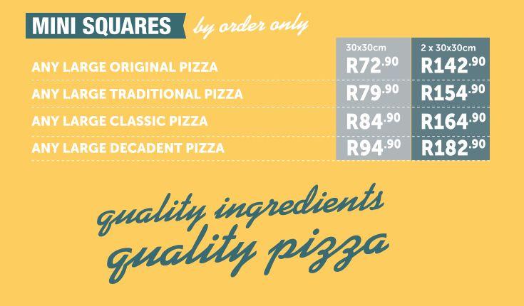 Trays - Pizza Menu